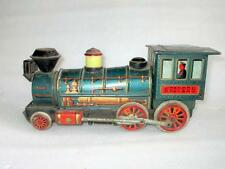 Vintage Old Battery Operated Western Engine Train Modern Toy Litho Tin Toy Japan
