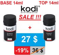 MEGA SALE! 2pcs 14ml. Rubber BASE + TOP Kodi Professional Gel LED/UV