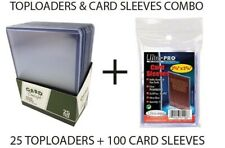 CARD CONCEPT 25 TOP LOADERS & 100 ULTRA PR0 SOFT SLEEVES COMBO TOPLOADERS