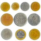 10 COINS FROM FANCE. OLD COLLECTIBLE FRENCH MONEY. FRANCS, CENTIMES: 1944-2001