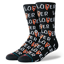 STANCE It Lover Loser Crew Socks sz L Large (9-12) Black White Red Pennywise