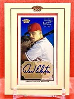 DAVID ECKSTEIN 2002 Topps 206  #TA-DE Auto Mini Framed
