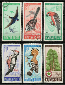 Hungary 1966 Sc#1746/51 - Birds Complete Set of 6 Used CTO XF