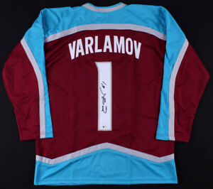 Semyon Varlamov Signed Avalanche Jersey (Beckett COA) #1 Colorado Goaltender