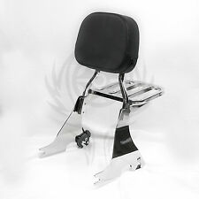 Detachable Sissy Bar Backrest for Harley Sportster XL 883 XL1200 04-17 16