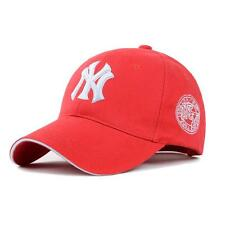 Red New York  Curved Peak NY Logo 6 panel Yankee style baseball cap