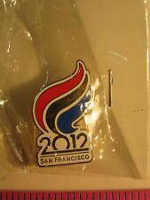 2012 SAN FRANCISCO OLYMPIC TORCH LOGO LAPEL PIN PINBACK NEW IN ORIGINAL PLASTIC
