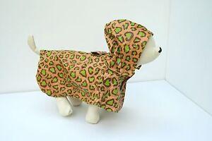 Martha Stewart Leopard Print Dog Rain Coat - XS
