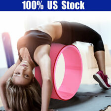 Yoga Stretch Roller Wheel Abdominal Exerciser Indoor Home Fitness Equipment New