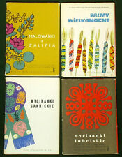 35 POSTCARDS Polish Folk Art craft wycinanka Easter palms ethnic painting POLAND