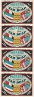 Vintage Packer's All-Healing Tar Soap 4-Label Strip - Household Washing