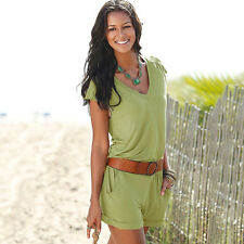 Women's Summer One Piece Playsuit Casual Shorts Beach Party Mini Romper Jumpsuit
