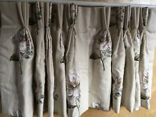 "Colefax & Fowler Louise Linen Curtains, Triple Pleat, Interlined 20.5"" D x 43"" W"
