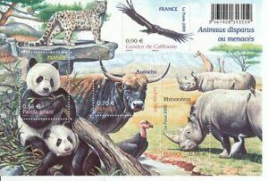 France Block 107 Panda Rhino Ox Condor (MNH)