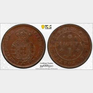 1860 Angola Macuta. PCGS MS 63 BN. KM-59