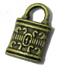 25 Piezas Tono de bronce de aleación encanto colgante-A0249