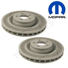 Pair Set of Front Left & Right Slotted Disc Brake Rotors for Chrysler Dodge