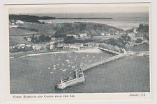 Jersey postcard - Gorey Harbour and Castle from the Air