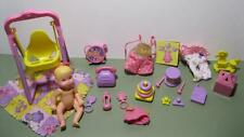 Barbie BABY Krissy 2001 SWING N & PLAy LAYETTE Set CRISSY Clothes Playset 100%