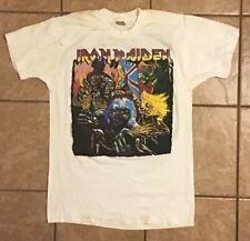 Vintage Distressed Iron Maiden T-Shirt Sz L