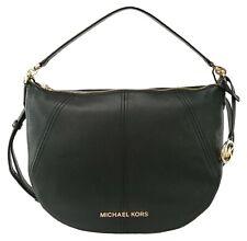 Michael Kors Bedford Hobo Shoulder Bag Black Medium Handbag Pebbled Leather