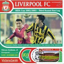 Liverpool 2002-03 Vitesse Arnhem (Vlad. Smicer) Football Stamp Victory Card #213