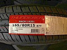 1 NEW 165 80 15 87T Thunderer Mach I touring tires 60k miles 165/80R15 165R15