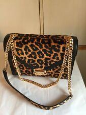 Michael Kors WHITNEY Large Haircalf  Shoulder Black /Leopard New &Tags 100% Aut