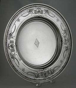 Sterling Compote with Art Deco mono (Ca. 1930) by Graff and Washburn