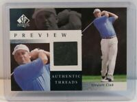 2001 Upper Deck SP Authentic Preview Threads Stewart Cink Rookie Golf Card SC-AT