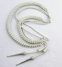 Aiguillette, Silver Mylar Cord, With Silver Tags, Right Sided, LI-AUCC-0072