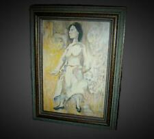 Spain Important Artist Felix Mas Oil Watercolor Painting Lady Portrait And Nudes