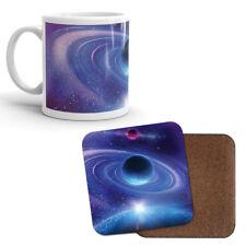 Mug & Coaster Set - Purple Blue Planet Star Space Solar System Galaxy Gift #8077