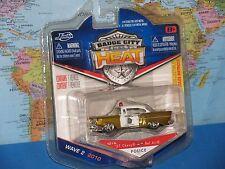 JADA BADGE CITY HEAT POLICE 1957 CHEVY BEL AIR #016 DIECAST METAL BRAND NEW VHTF
