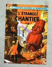 Carte Postale Tintin PASTICHE - L'étrange chantier.  Boîte aux Images 2018