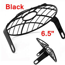 "1x 6.5"" Universal Retro Motorcycle Headlight Grill Side Mount Cover protector"