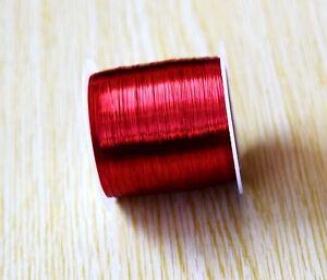YMC0.11R*1000m Red Enameled Copper Wire 0.11mm Solder Weld Repair Magnetic 1000m
