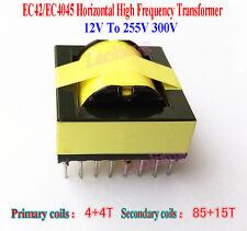 1PCS 12V To 255V 300V EC42/EC4045 Horizontal High Frequency Transformer Inverter