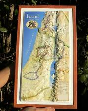 "3D Topography BIBLE MAP 16"" Biblical Study 12 Tribes of Israel Old New Testament"