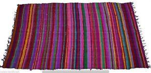 5X7' Indian Handmade Cotton Patchwork Vintage Rag Dari Throw Rectangle Chindi