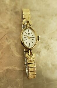 Vintage 14K Solid Yellow Gold Omega Women's Watch Ladies
