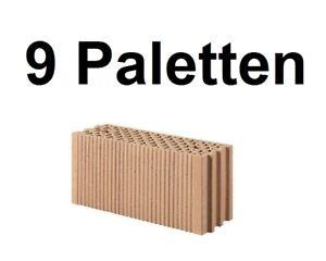 9 Pal. Planziegel POROTON-T18 (17,5 cm) 8/0,8 Ziegelstein Planstein Mauerwerk