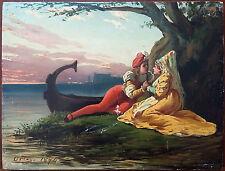 Francisco Javier Ortego Y Vereda (Espagnol, 1833-1881) Ancien Tableau Peinture