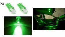 2 LUCI DI POSIZIONE LAMPADA LED VERDE T10 lampadina auto 6000K 12V W5W luce
