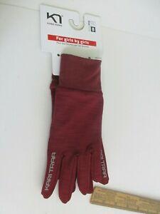 Kari Traa Nora Ladies Gloves Sz 8 Lg Maroon New For Girls Made by Girls