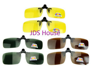 Day Night Vision Clip on Flip up Polarized Driving Sun Glasses – W110