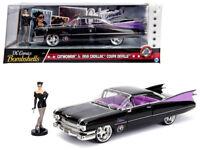 1/24 Jada 1959 Cadillac Coupe DeVille & Catwoman Figure Diecast Black 30458