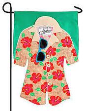 New listing Hawaian Shirt 14L4421Bl Linen Garden Flag 12.5� x 18�