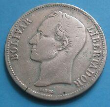 5 BOLIVARES VENEZUELA - BELLISSIMA MONETA IN ARGENTO 25 grammi del 1921 - nr 661