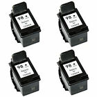 4x HP 98 Black C9364W 45% More Remanufactured Ink Cartridges Officejet 6310